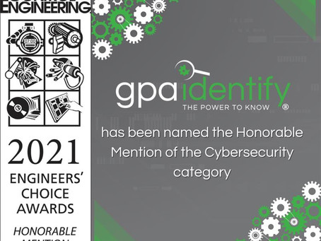 GPA Recognized By 2021 Engineers' Choice Awards in Cybersecurity