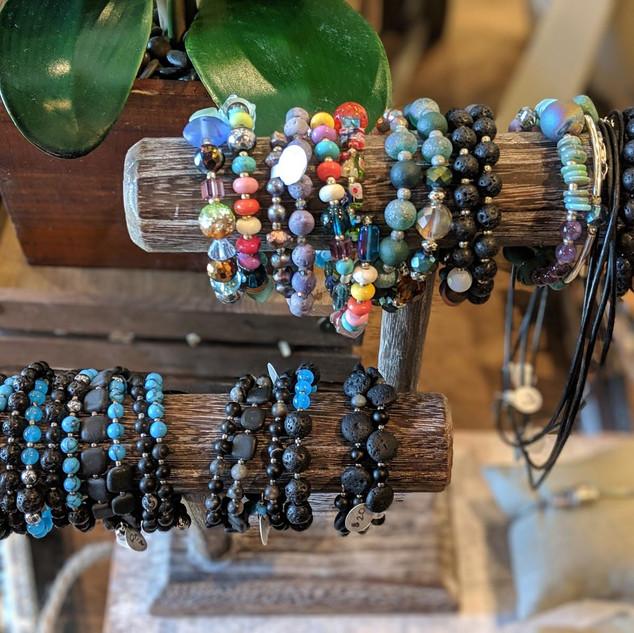 Beaded Gem Wrap Bracelets