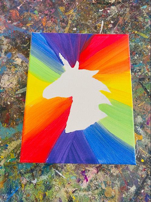 Rainbow Unicorn Canvas Kit