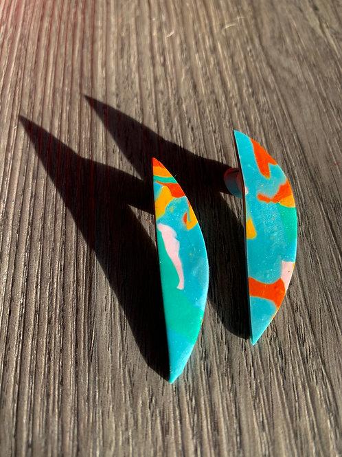 Half Oval Earrings