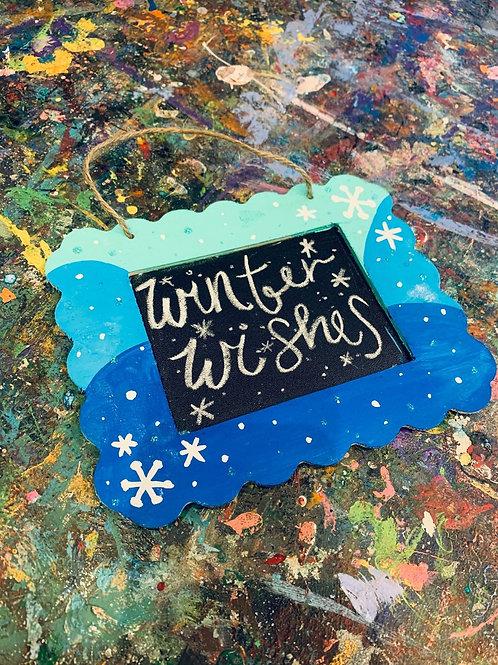 Winter Wishes Chalkboard