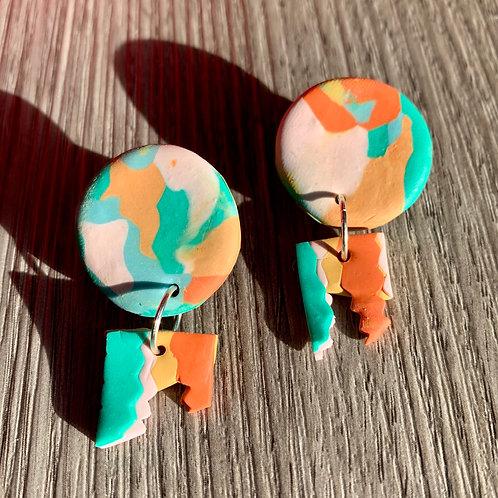 Circle Dangler Earrings