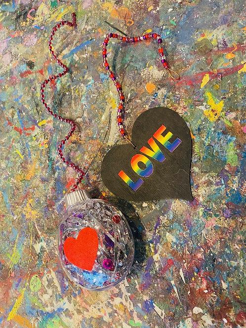 DIY Love Hangers (set of 2)