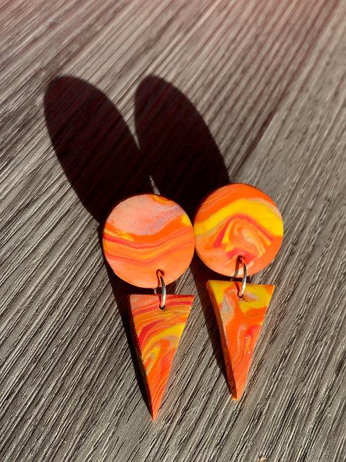 Arrow Point Dangling Earrings