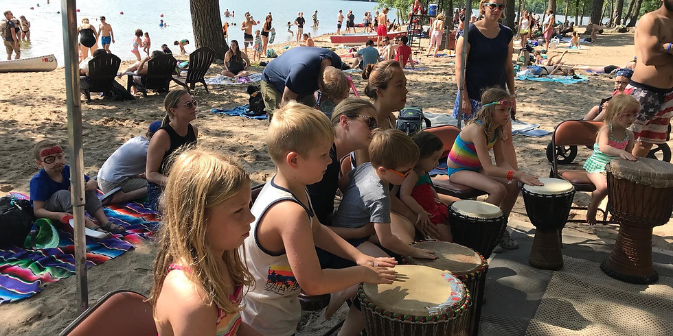 Family Beach Opener & BBQ featuring Brother Ghana Drum Jam