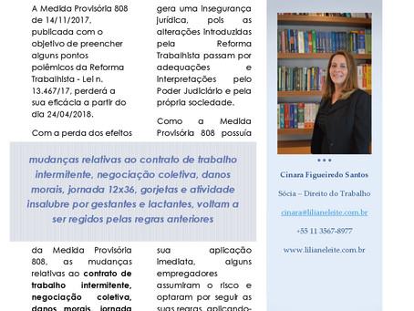 A PERDA DA EFICÁCIA DA MEDIDA PROVISÓRIA 808 E OS IMPACTOS NOS CONTRATOS DE TRABALHO