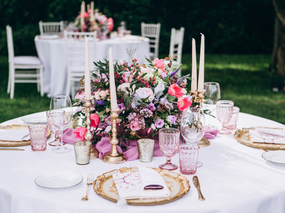 Awesome wedding table decoration and wed