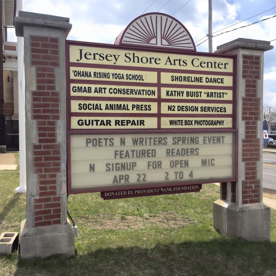 Jersey Shore Arts Center sign board