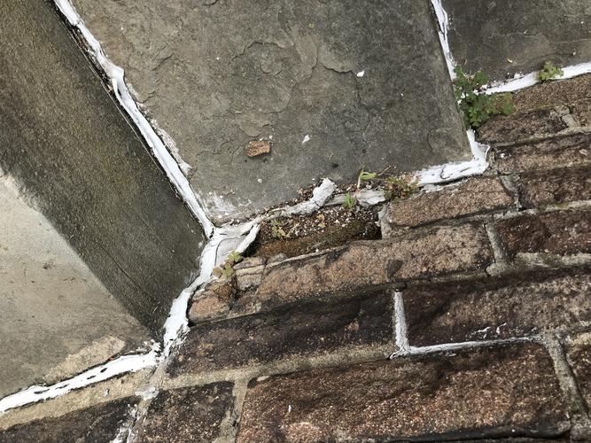 Top view of slate steps - closeup
