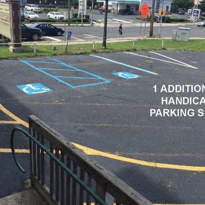 Proposed Additional Handicap Parking spot