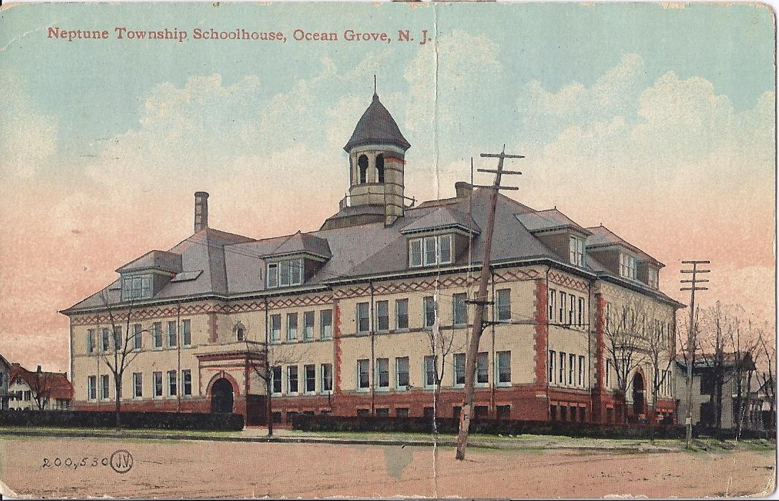 Original drawing of the Old Neptune High School