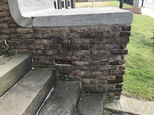 spalting of brick area