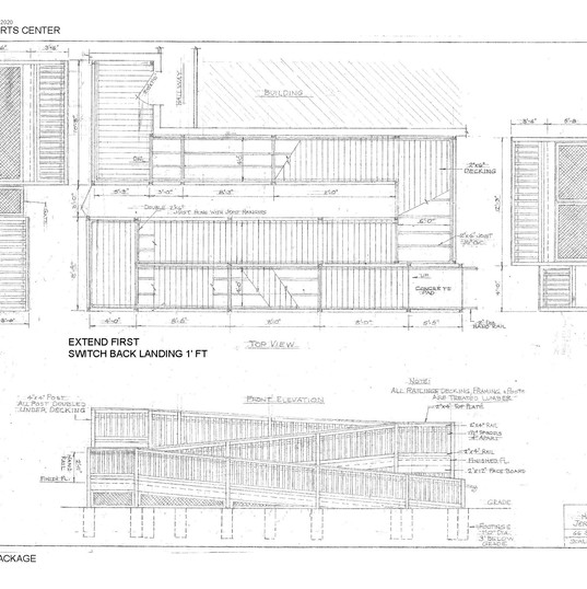 Plan of the initial ramp construction