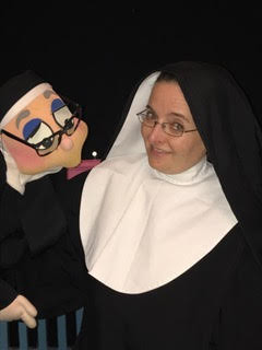 Amanda Munice as Sister Amnesia in NUNSENSE, the Habit Forming Musical at NENA.