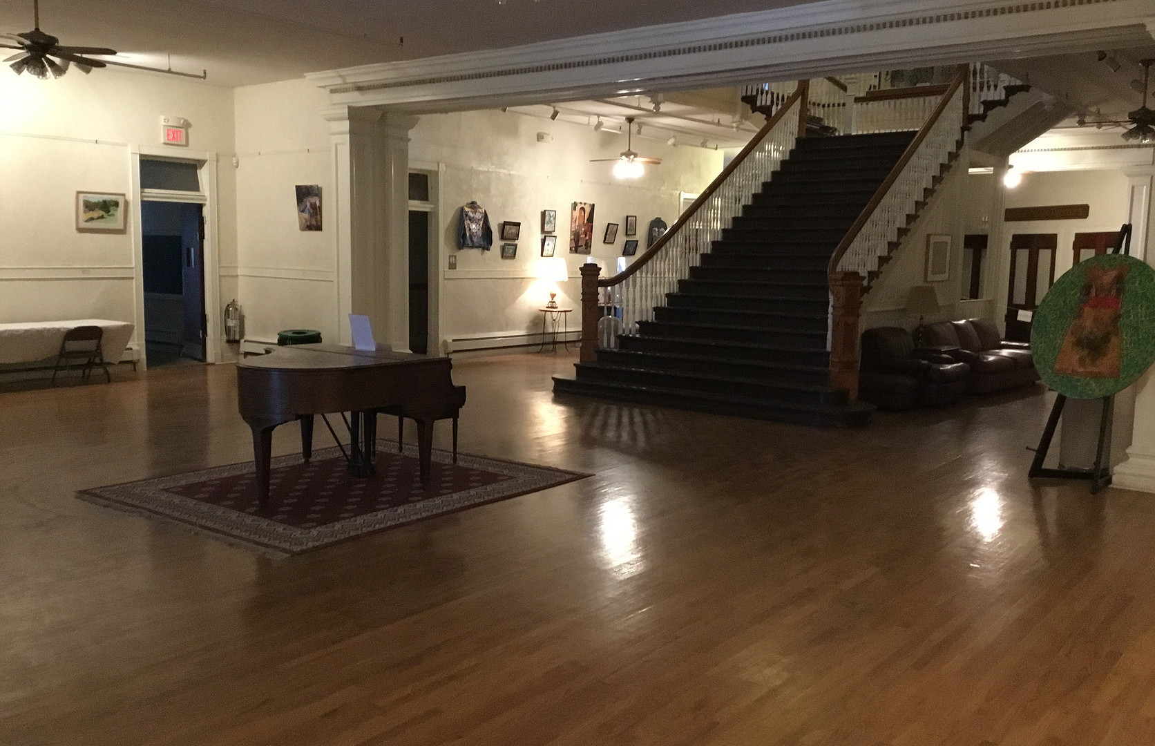 Main lobby view with staircase