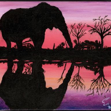 Elephant Sunset (2019)