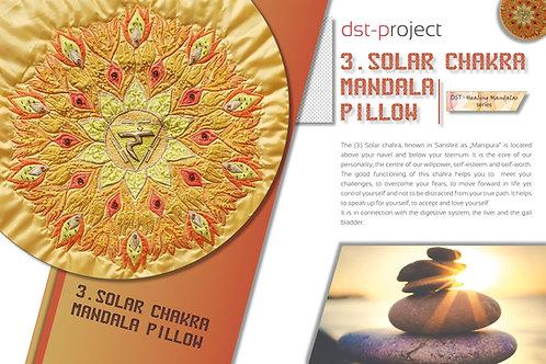 """3. Solar Chakra Mandala"" Pillow / DST-pattern"