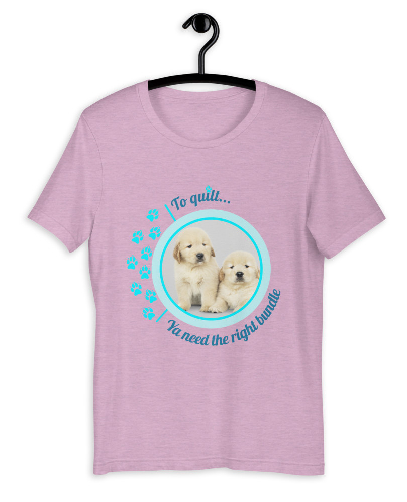 To Quilt Puppies T-Shirt.jpg