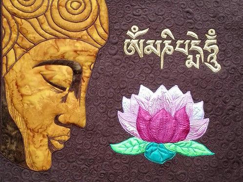 """Buddha & Lotus"" Wall Hanging / DST-pattern w. interfacing"