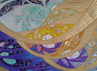 Free motion quilting and thread painting