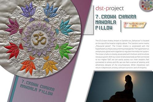 """""""7. Crown Chakra Mandala"""" Pillow / DST-pattern"""