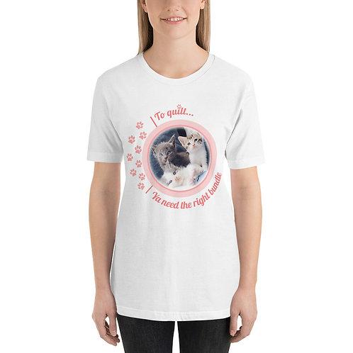 To Quilt Kittens - Short-Sleeve Unisex T-Shirt