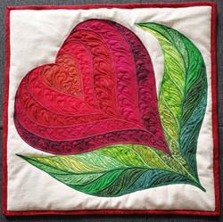 Heart Flower Pillow