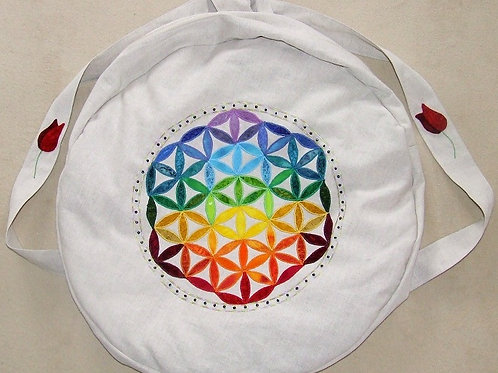 Shamanic Drum Bag with Flower of Life