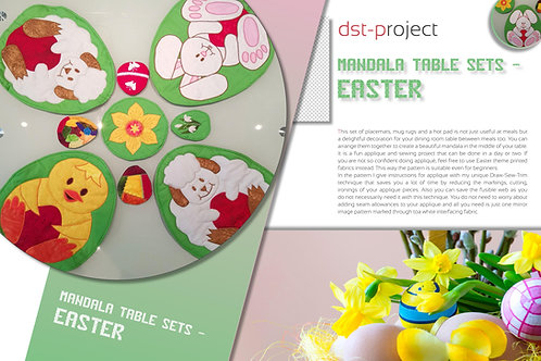 Mandala Table Sets -Easter (Draw-Sew-Trim pattern)
