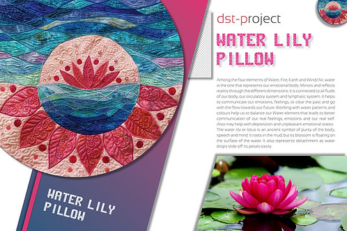 """""""Water Lily"""" Pillow / DST-pattern"""