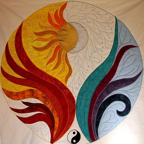 """""""Sun and Moon"""" - Mandala"""