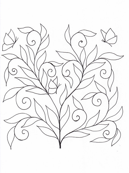 Curling Leaves / Simple Design