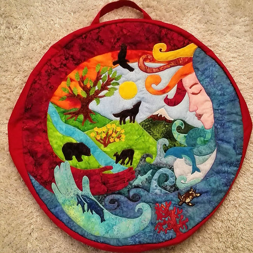 Shamanic Drum Bag with Mother Earth