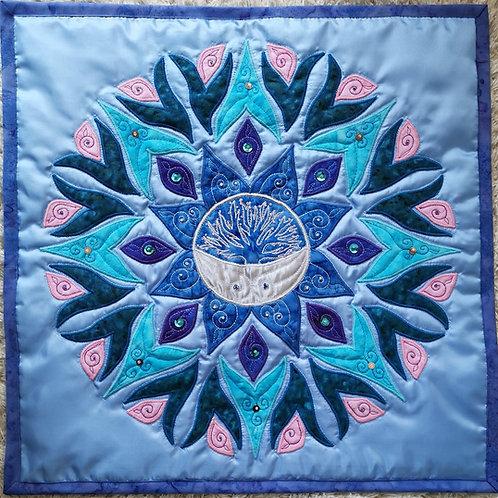 """""""Moon Mandala"""" Pillow / DST-Kit"""