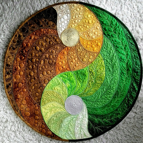 """""""Yin Yang Mandala"""" / DST-pattern w. interfacing"""