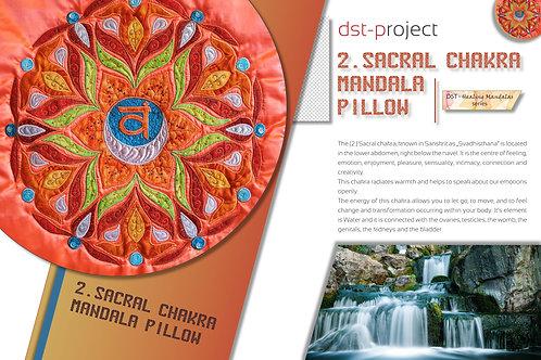 """2. Sacral Chakra Mandala"" Pillow / DST-pattern"