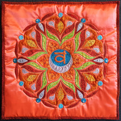 2nd Sacral Chakra Mandala Pillow