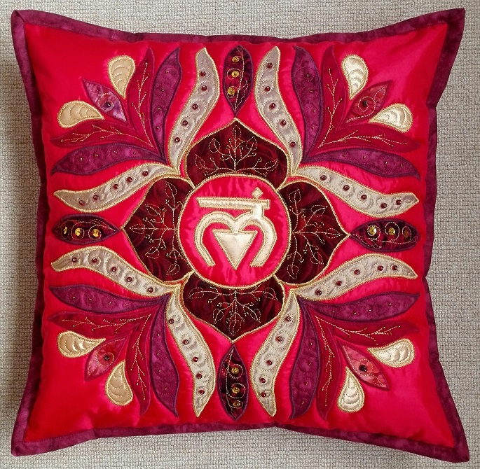 1st Root Chakra Mandala Pillow