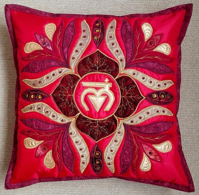Root Chakra Mandala Pillow
