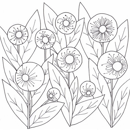 Happy Flowers / Simple Design