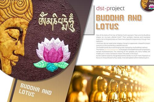 """Buddha & Lotus"" Wall Hanging / DST-pattern"