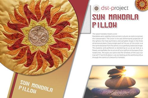 """Sun Mandala"" Pillow / DST-pattern"
