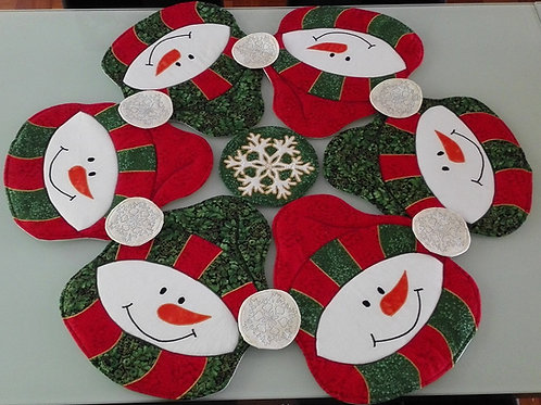 Mandala Table Sets - Snowman