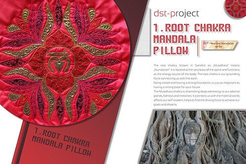 """""""1. Root Chakra Mandala"""" Pillow / DST-pattern"""