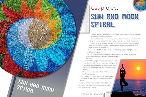 """Sun & Moon Spiral Mandala"" / DST-pattern"