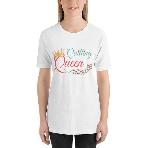 Quilting Queen - Short-Sleeve Unisex T-Shirt