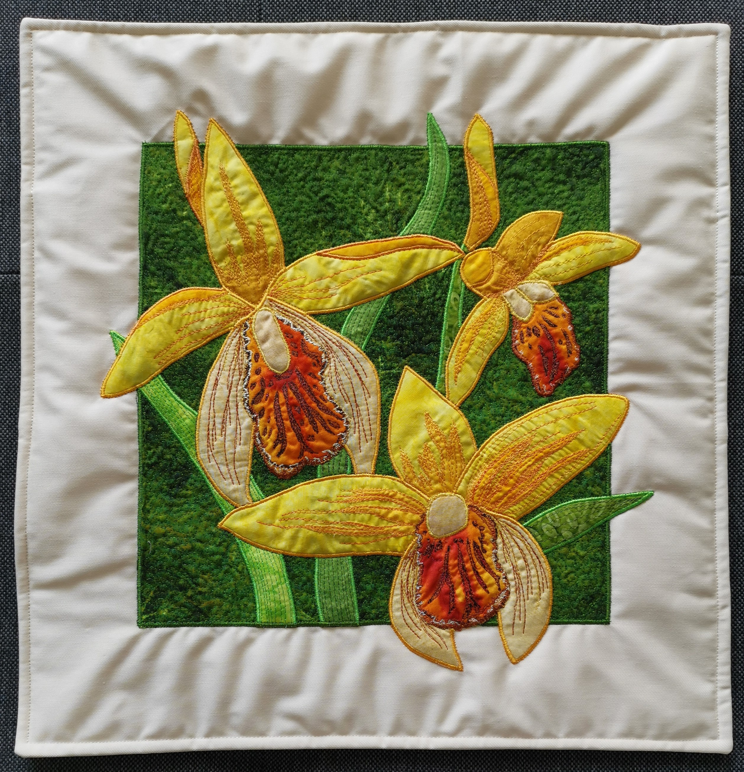 Orchid Flower Pillow