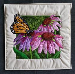 Echinacea Pillow - Pink