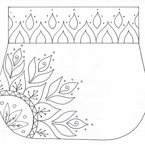 Mandala Shoulder Bag / Simple Design