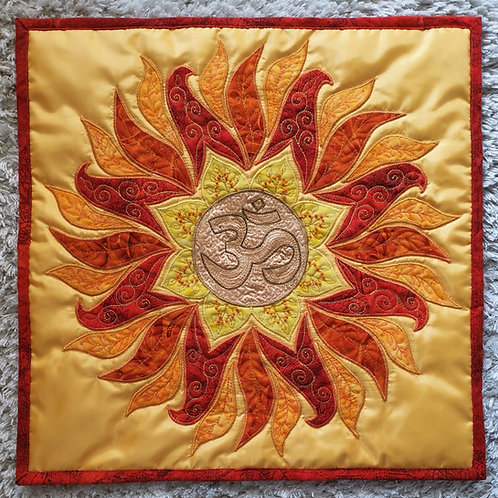 """Sun Mandala"" Pillow / DST-pattern w. interfacing"